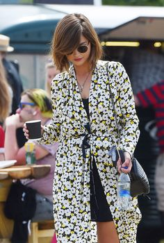Doctor Who's Jenna Coleman looks festival chic at Glastonbury 2015 ...