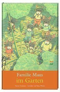 Familie Maus hat viel Spaß bei der Gartenarbeit. Voll Freude beobachten die Mäuse, wie langsam aus der ausgestreuten Saat ein Keimling, eine Pflanze und schließlich ein stattlicher Kürbis wird.