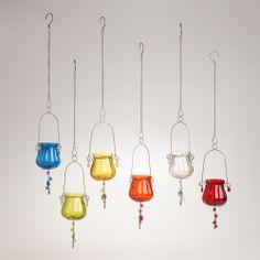 Glass and Metal Tealight Candleholders, Set of 6 | World Market
