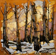 163 best images about David Langevin Watercolor Trees, Watercolor Landscape, Abstract Landscape, Landscape Paintings, Abstract Art, Canadian Artists, Tree Art, Painting Inspiration, Amazing Art