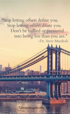 Stop letting others define you. #quote