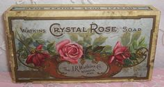 Your place to buy and sell all things handmade Birth Month Flowers, Aqua Background, Rose Perfume, Vintage Fans, Red Wagon, Rose Soap, Coming Up Roses, Vintage Packaging, Soap Boxes