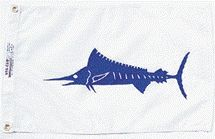 Marlin Fish Flag - Nylon - 12x18""