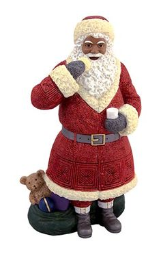 Santa with Cookie  Product Description Ebony Santa with Cookie Figurine Dimension: 10.5″H