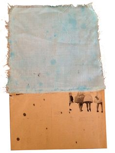 Blue sky : laser print on old post paper and fabric  https://www.facebook.com/BrunoDeBlasio