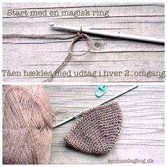 Magisk ring Crochet Socks, Crochet Accessories, Sock Shoes, Crochet Bikini, Straw Bag, Crochet Patterns, Rings, Diy, Threading