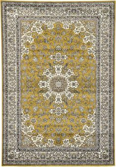 Gold Isfahan Design Area Rug