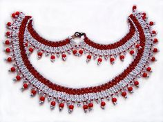 Free pattern for necklace Сranberries Click on link to get pattern - http://beadsmagic.com/?p=6674