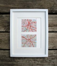 Embroidered Map of Birmingham and Manchester by yinsteadofi, $25.00