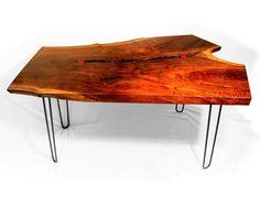 Unique Wood Office Desk/Table Purple Haze by StemFurniture on Etsy, $1499.00