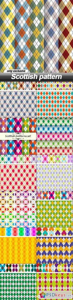 Scottish pattern - 13 EPS