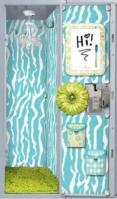 My school locker never looked like this!