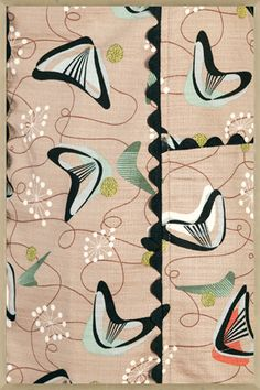 Boomerang Barkcloth Wallpaper (I believe)