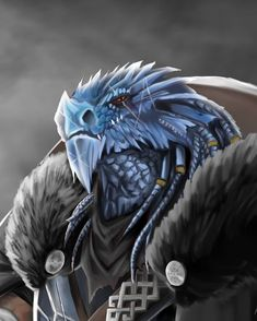 ArtStation - Blue Dragonborn Paladin, Kris Lancucki