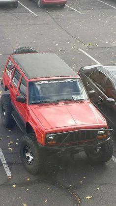 Jeep Cherokee with sliding rag top kit Jeep Zj, Jeep Xj Mods, Jeep Truck, Jeep Cars, Jeep Wrangler, Cherokees, Suv Comparison, Lexus Gx, Cool Jeeps