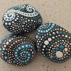 blue luminescence collection trio 1 river rock by etherealandearth