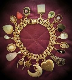 Repurposed Gold Filled Charm Bracelet by Jessica Boyd