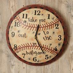 "Kids Wall Clock - Baseball, ""Take Me Out to the Ball Game"" by audreys, http://www.amazon.com/dp/B008J6CVU4/ref=cm_sw_r_pi_dp_LMeVqb18E0JAW"