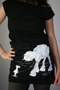Girl walking AT-AT