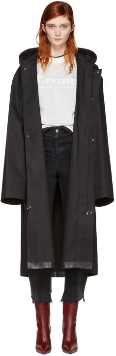 Vetements: Black Mackintosh Edition Oversized Rain Coat   SSENSE