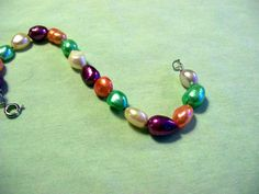 Beautiful Valentines Day Pearls Hand strung by BeadCharmers, $12.00  Amazingly colorful Freshwater Pearls for your Valentine!