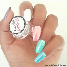Beauty Big Bang chrome unicorn mermaid nail powder review on www.stylethosenails.com
