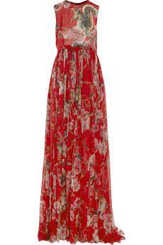 Dolce  amp  Gabbana Printed silk-chiffon gown  17592e492ef