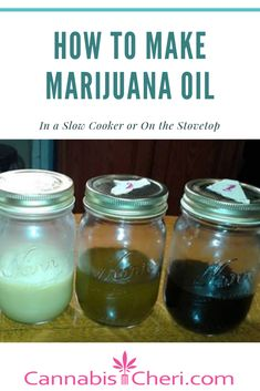 How to Make Marijuana Oil - Stovetop and Slow Cooker Methods for infusing all kinds of cooking oils with cannabis. Weed Recipes, Marijuana Recipes, Ganja, Cannabis Edibles, Cannabis Oil, Thc Oil, Marijuana Facts, Medical Marijuana, Slow Cooker