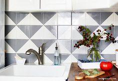 Painted Tile Backsplash DIY - One Kings Lane - Style Blog