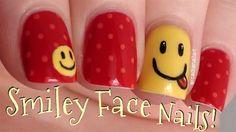 smiley face nail art, nail art tutorials, smiley face nails, nailart, nail arts, smileys, nail idea, smiley nail, big smiley