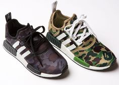 This time this pair is born out of a collaboration between A Bathing Ape  AKA BAPE and Adidas, and the result, as you might have guessed, ...