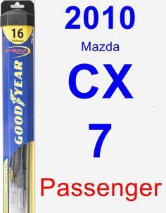 Passenger Wiper Blade for 2010 Mazda CX-7 - Hybrid