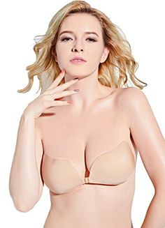 1a2323448fd3c DGYAO Women s Strapless Invisible Sticky Push Up Adhesive Bra for Backless  Dress (Cup-A