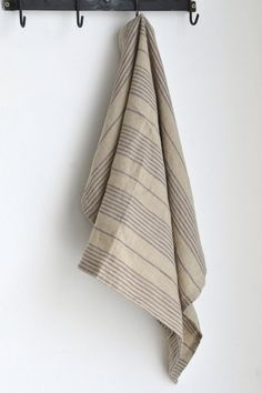 A linen dishtowel is as important as good food in the kitchen. Our obsession with beautiful dishtowels continues with the discovery of this stunning stone and