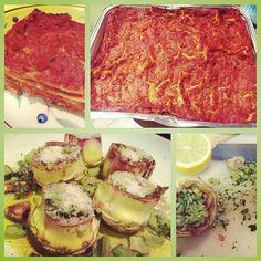 Pranzetto Veg della domenica: Lasagne al ragù di Seitan & Carciofi ripieni!! Tasty Sunday Vegan Lunch: Veggie Lasagna with Seitan & Stuffed Artichokes!