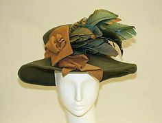 Hat  Date: ca. 1916 Culture: American or European Medium: wool, feathers