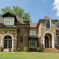 1000 images about front landscaping ideas on pinterest for French country brick exterior