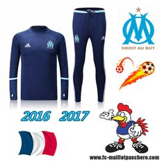Ligue 1: Survetement Foot Marseille OM Bleu Marine 2016 2017 - Homme Thailande Discount