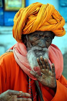 Pushkar man - faces of the people