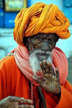 Pushkar man - faces of the people