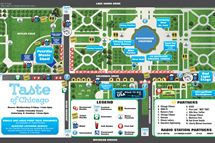 Taste of Chicago Map