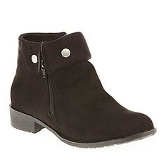 Propet Women's Sidney Ankle Boots :: Boots :: Shop now with FootSmart black, size 6 1/2