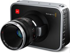 Blackmagic cinema camera. 2.5K video camera compatible with Canon EF and Carl Zeiss ZF lenses