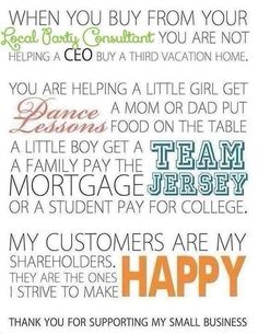 Support Families, Support My Small Business! Join My Team!