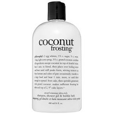 philosophy - Coconut Frosting Shampoo, Shower Gel & Bubble Bath #sephora