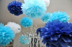 Kinda love the different shades of blue with a little white accent!
