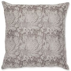 Klaus Haapaniemi design | Silk Brocade Swan Grey & White cushion