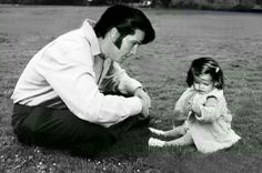 Elvis with his one an only little girl Lisa Presley