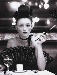 Audrey Marnay by Arthur Elgort for Vogue US March 1999