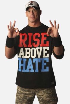 RISE ABOVE HATE | Clothing | T-Shirt | World Wrestling Entertainment (WWE) | John Cena | Ring Attire | Year: 2011-2012 | #johncena #wwe